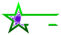 small greenstar glass logo colored