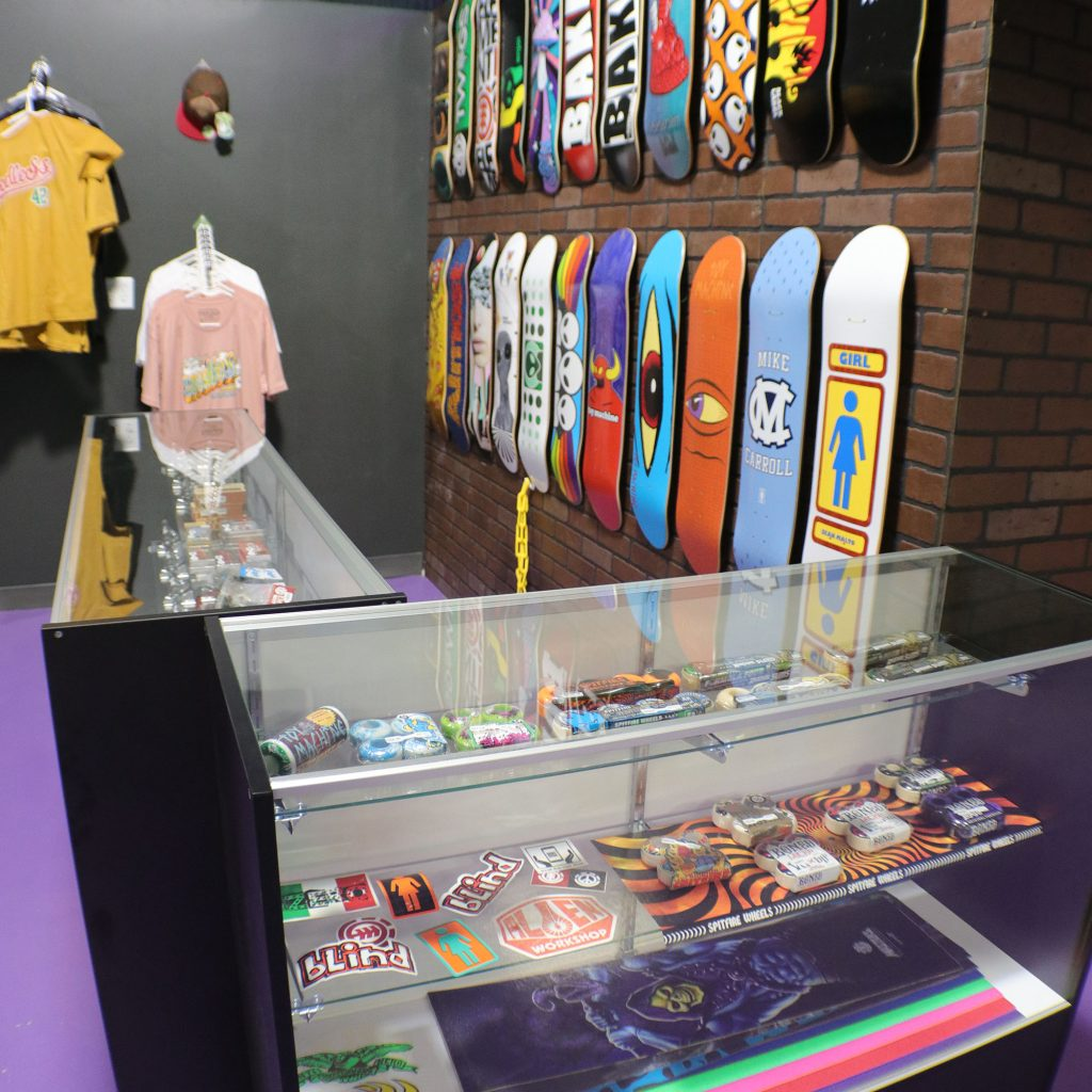 in-store skateboards and supplies